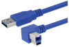USB 3.0 A male to right angle left exit B male 3M -- MUS3A00028-3M -Image