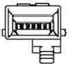 TE Connectivity 5-555237-2 Ethernet & Telecom Connectors 6/6 SIDE LATCH -- 5-555237-2 - Image