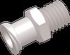 Female Thread to Luer Straight Connector -- AP16FTFLT2528N