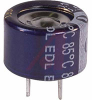 CAPACITOR, ALUMINUM ELECTRONIC (EDL) STACKED COIN, .10 F, 5.5 VOLT, MAX RES. 75 -- 70186123