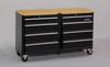 Rolling Cabinet,53x18x32-1/2,MDF Top,Blk -- 16W844