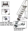 WEIGHT ACTUATED LOCK STEP LADDERS--58°SLOPE -- HWA154014