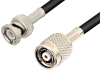 Reverse Polarity TNC Male to BNC Male Cable 72 Inch Length Using RG223 Coax -- PE35235-72 -Image