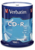 Verbatim 94554 CD-R Spindle - 100 Pack, 52X, 700MB -- 94554