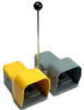 On-Off Foot Switch: double plastic pedal w/ yellow/gray plastic guard -- APD1231-V0 - Image