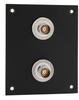 2 JACK PANEL INSERT BULKHEAD FEED THROUGH TRB 3 LUG ISOLATED -- REF00212 -Image