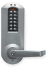 Programmable Lockset,Cylindrical,Chrome -- 2ZU97