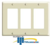Leviton 3 Gang Decora/GFCI Wallplate (Package of 2) -- 80411