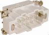 10 Pole with Ground Industrial Rectangular Connectors Male Insert -- 29021