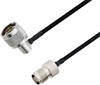 N Male Right Angle to TNC Female Cable Assembly using LC141TBJ Coax, 2 FT -- LCCA30516-FT2 -Image