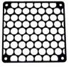Giant Mesh Laser Cut 120mm Fan Grill - Black -- 70994