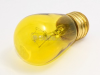 11 Watt, 130 Volt S14 Transparent Yellow Sign/Indicator Bulb -- B701811