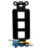 Hubbell 3 Port Outlet Frame Unloaded -- ISF3BK - Image