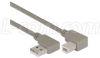 Right Angle USB Cable, Right Angle A Male/Right Angle B Male, 1.0m -- CA90RA-90RB-1M