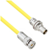 Halogen Free Cable Assembly TRB 3-Slot Plug to Non-Insulated Bulk Head 3-Lug Cable Jack .245