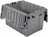 Container, Attached Lid Container 12 gal,Gray -- 39120