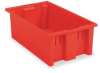 Tote,Nest/Stack Red -- 5KY97