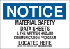 Brady B-555 Aluminum Rectangle White MSDS Sign - 10 in Width x 7 in Height - 126468 -- 754473-74652