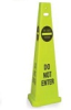 TriVu 3-Sided Safety Cone ( Case of 3 ) -- TFS
