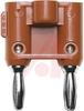 Banana Plug, Standard, Double, Red -- 70197121