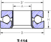 T-114: Open Style With Inside Band Thrust Bearing -- T-114-34