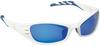 3M Fuel 11664-00000-10 Polycarbonate Standard Safety Glasses Blue Mirror Lens - Glacier White Frame - Full Frame - 078371-62159 -- 078371-62159