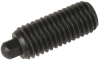 Hex Nose Plunger / Heavy End Force - Steel, Black Oxide: 1/4-20 Thread, End Force 3.0 Initial x 13.0 Final with Locking Element -- 57201 - Image