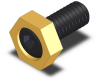 Hex Cam Clamp - Brass - 8-32 Thread -- MB-10202