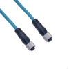 Ethernet, Cordset, 4 Pole, M12 D-Coded Female Straight / M12 D-Coded Female Straight, 10M, Teal, PVC -- MDE45-4FFP-10M - Image