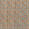 Blocks On Chenille Stripe Fabric -- R5448 -- View Larger Image