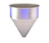 Stainless Steel Seamless Hopper Funnel, 6.4 Gal., 14