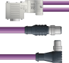 LAPP UNITRONIC® PROFIBUS® D-Sub Y-Cordset to Node Module - 5 positions male M12 straight and 5 positions male M12 90° to 9 positions D-sub node - Violet Polyurethane (PUR) - Continuo... -- OLFPB4110149F02 -Image