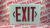 EXIT SIGN 1SIDE 120VAC 2 C7 BULBS -- KSR - Image