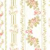 Floral Stripe Cotton Fabric -- K-Tristen -- View Larger Image