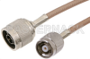 N Male to Reverse Polarity TNC Male Cable 60 Inch Length Using RG400 Coax -- PE34626-60 -Image