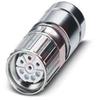 CIRCULAR METAL CONNECTOR, POWER, SOCKET, (POS 4 + 3 + PE) STRAIGHT, SHORT -- 70169994