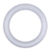 Sanitary Gasket, Flanged, Platinum-cured Silicone, 1-1/2