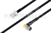MIL-DTL-17 BNC Male to SMA Male Right Angle Cable 200 cm Length Using M17/84-RG223 Coax -- PE3M0034-200CM -Image