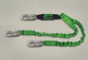 StretchStop Lanyards with SofStop Shock Absorbers - StretchStop, twin-leg, snap hook/snap hooks > UOM - Each -- 8798SS/6FTGN