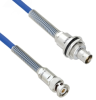 Plenum Cable Assembly TRB 3-Slot Plug to Insulated Bulk Head 3-Lug Cable Jack with Bend Reliefs MIL-STD-1553 .242