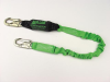 StretchStop Lanyards with SofStop Shock Absorbers - single leg, snap hook/rebar hook > UOM - Each -- 913RSS/6FTGN