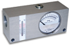 Reversible Inline Flow Indicator With Temperature Sensor, RFI Series, Up to 54 GPM -- HC-RFI-054