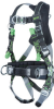 Miller Revolution RDTSL Black Universal Vest-Style Body Harness - Dualtech Webbing - 612230-13874 -- 612230-13874