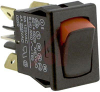 Switch, Rocker, Miniature CURVETTE, DPDT, ON-NONE-ON, 0.187 TABS TERM, VISI-ROCK -- 70131599 - Image