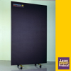 EVER-GUARD® Portable Laser Safety Barrier, Plus Power, Black, 4'W x 6.5'H -- Kentek / PT-250W-B4