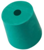 Plasticoid, Green Neoprene Stoppers, One-Hole, Size 8 (1 -- K8--M351