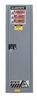Justrite Sure-Grip EX 22 gal Gray Hazardous Material Storage Cabinet - 23 1/4 in Width - 65 in Height - Floor Standing - 697841-11304 -- 697841-11304