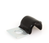 "25456 3/8"" Vinyl Coated Cushioned Half Clamp, 5/8"" Wide -- 25456 -- View Larger Image"