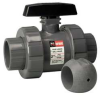Ball Valve for Sodium Hypochlorite, 1 In -- 6FXJ3 - Image
