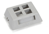 GigaBase2 Modular Furniture Faceplate, 4-Port, Gray -- WPT473-MF